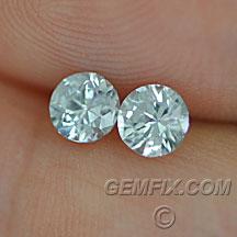 matched pair round Montana Sapphire unheted