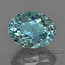 oval Montana Sapphire blue green