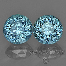 matched pair round blue Montana Sapphire