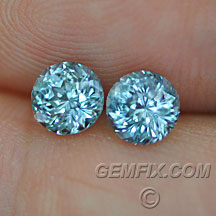 Montana Sapphire pair of blue green rounds