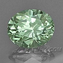 unheated oval green Montana Sapphire