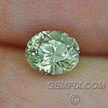 Montana Sapphire untreated green oval