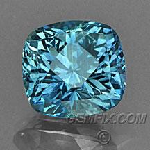 cushion blue green Montana Sapphire