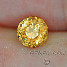 Montana Sapphire yellow orange round