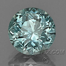 Montana Sapphire round blue green gray
