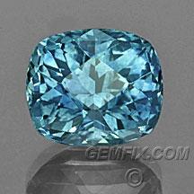 blue cushion Montana Sapphire