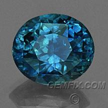 large blue Montana Sapphire oval