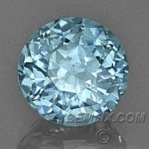 round aqua blue unheated Montana Sapphire