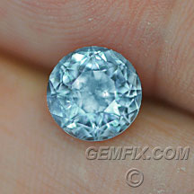 untreated Montana Sapphire round blue large