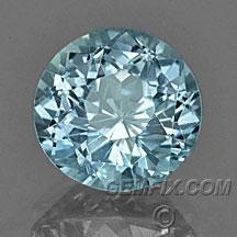 Montana Sapphire Round aqua blue