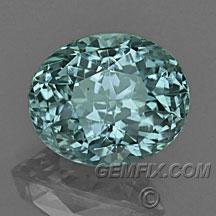 blue green oval Montana Sapphire