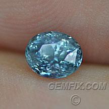 blue oval Montana Sapphire