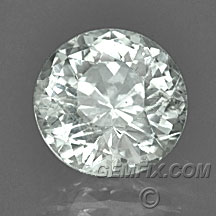 unheated round white colorless Montana Sapphire