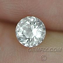 untreated Montana Sapphire round colorless white