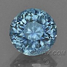 Montana Sapphire round blue gray