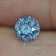 round grey blue Montana Sapphire