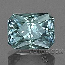 green blue radiant Montana Sapphire