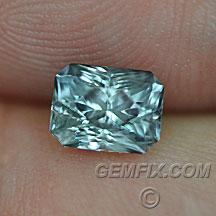 Montana Sapphire radiant cut green blue gray