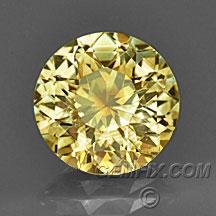 round orange yellow Montana Sapphire