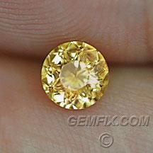 Montana Sapphire round yellow orange