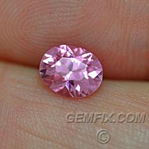 oval brilliant pink sapphire