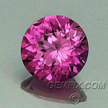 round pink sapphire
