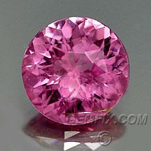 certified round pink sapphire