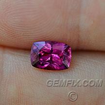 purple pink sapphire unheated