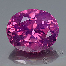 large natural pink sapphire oval