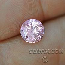 pastel pink round unheated sapphire
