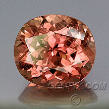 unheated pink orange sapphire oval