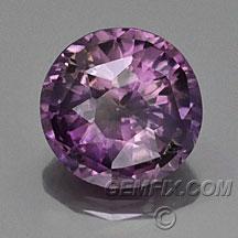 purple round sapphire