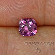 pink violet unheated cushion sapphire