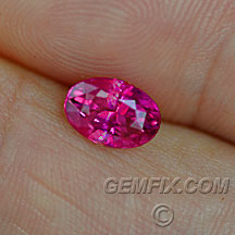 hot pink red sapphire oval