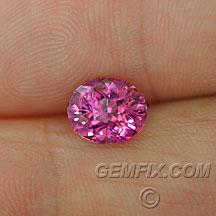 pink sapphire oval certified