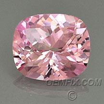 untreated cushion pink peach sapphire