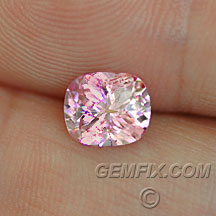 untreated cushion pink peach sapphire