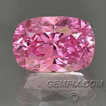 pink sapphire cushion