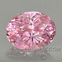 untreated pink sapphire oval