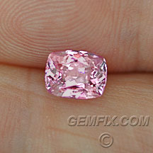 pink sapphire cushion certified