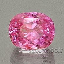 pink sapphire cushion oval