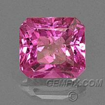 Pink sapphire radiant cut square