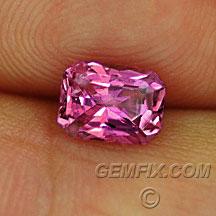radiant cut pink sapphire