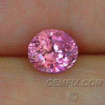 pink sapphire unheated oval