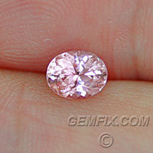 pastel pink sapphire oval