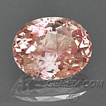 padparadscha sapphire certified oval