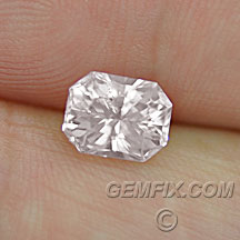 lightest pink untreated sapphire radiant cut