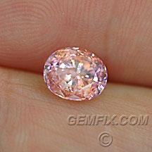 pink orange certified sapphire oval