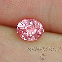 pink peach oval sapphire with GIA