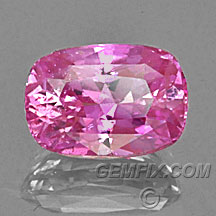 certified pink sapphire cushion